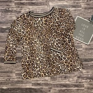 Women's Ruby Rd. Leopard Animal Print Blouse NWT